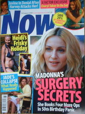 <!--2008-08-18-->Now magazine - Madonna cover (18 August 2008)
