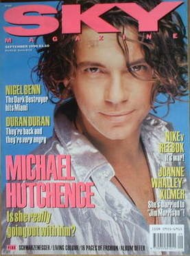 <!--1990-09-->Sky magazine - Michael Hutchence cover (September 1990)