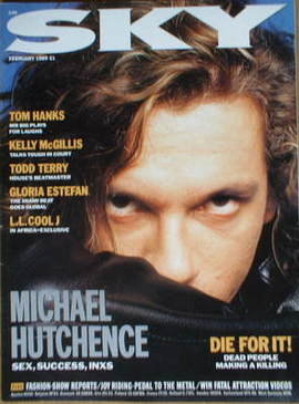 <!--1989-02-->Sky magazine - Michael Hutchence cover (February 1989)