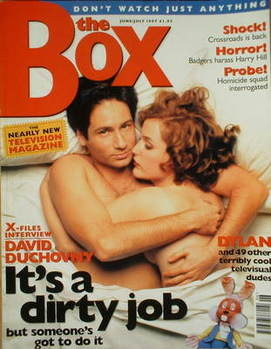 The Box magazine - Gillian Anderson and David Duchovny cover (June 1997/Jul