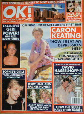 <!--1999-01-29-->OK! magazine - Caron Keating cover (29 January 1999 - Issu