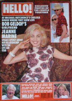 Hello! magazine - Jeanne Marine cover (3 August 1996 - Issue 418)