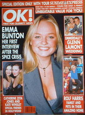 OK! magazine - Emma Bunton cover (Issue 256)