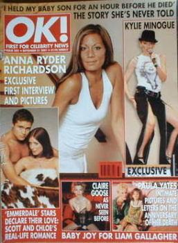 OK! magazine - Anna Ryder Richardson cover (21 September 2001 - Issue 282)
