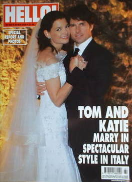 <!--2006-11-28-->Hello! magazine - Tom Cruise and Katie Holmes wedding cove