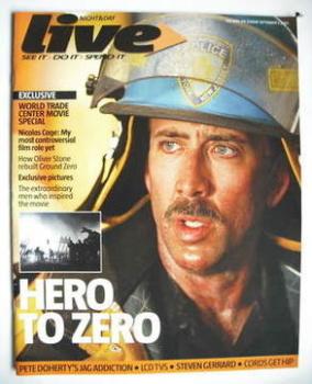 Live magazine - Nicolas Cage cover (3 September 2006)