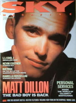 Sky magazine - Matt Dillon cover (August 1989)