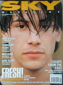 Sky magazine - Keanu Reeves cover (December 1989)