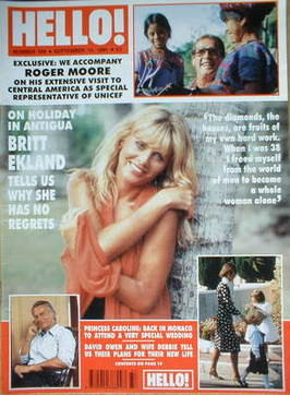 <!--1991-09-14-->Hello! magazine - Britt Ekland cover (14 September 1991 -