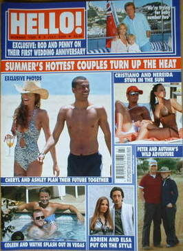 <!--2008-07-08-->Hello! magazine - Summer's Hottest Couples cover (8 July 2