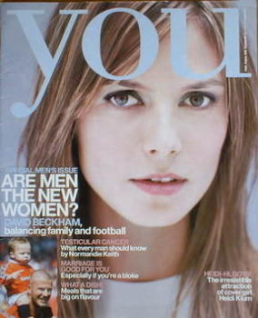 <!--2001-11-04-->You magazine - Heidi Klum cover (4 November 2001)
