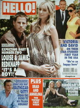 <!--2008-07-29-->Hello! magazine - Louise Redknapp and Jamie Redknapp cover
