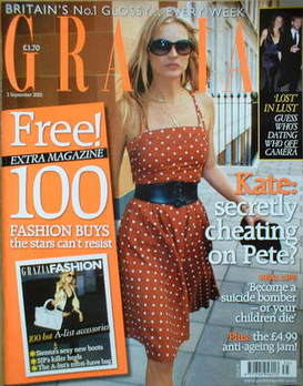 <!--2005-09-05-->Grazia magazine - Kate Moss cover (5 September 2005)