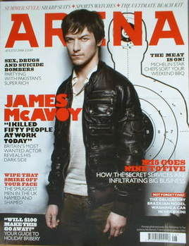 <!--2008-08-->Arena magazine - August 2008 - James McAvoy cover