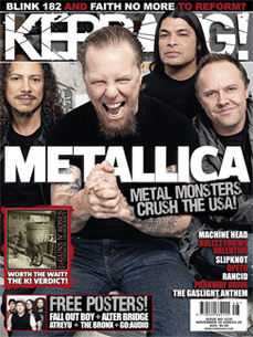 <!--2008-11-29-->Kerrang magazine - Metallica cover (29 November 2008 - Iss
