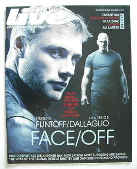 Live magazine - Andrew Flintoff and Lawrence Dallaglio cover (2 September 2007)