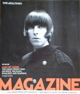 <!--2008-08-09-->The Times magazine - Liam Gallagher cover (9 August 2008)