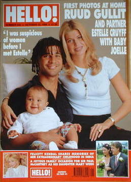<!--1998-10-10-->Hello! magazine - Ruud Gullit cover (10 October 1998 - Iss