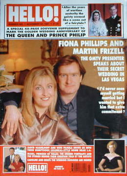 <!--1997-11-22-->Hello! magazine - Fiona Phillips and Martin Frizell cover