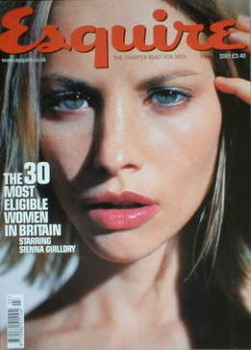 Esquire magazine - Sienna Guillory cover (March 2001)