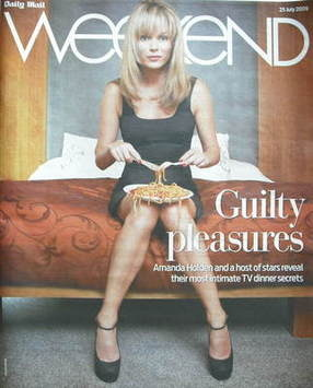 Weekend magazine - Amanda Holden cover (25 July 2009)
