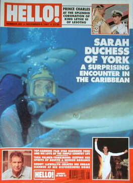 <!--1997-11-08-->Hello! magazine - The Duchess of York cover (8 November 19