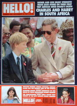 <!--1997-11-15-->Hello! magazine - Prince Charles and Prince Harry cover (1