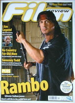 Film Review magazine - Sylvester Stallone cover (February 2008 - Issue 692)