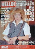 <!--1992-10-24-->Hello! magazine - Mia Farrow cover (24 October 1992 - Issue 225)