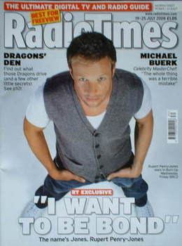 <!--2008-07-19-->Radio Times magazine - Rupert Penry-Jones cover (19-25 Jul