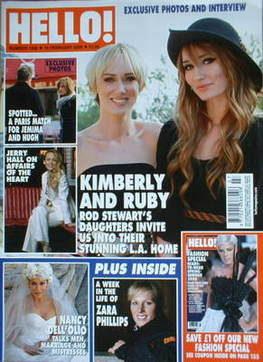 <!--2008-02-19-->Hello! magazine - Kimberly Stewart and Ruby Stewart cover