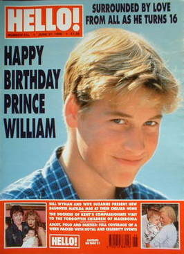 <!--1998-06-27-->Hello! magazine - Prince William cover (27 June 1998 - Iss