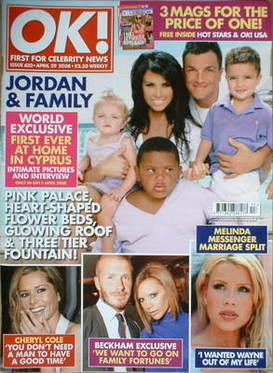 <!--2008-04-29-->OK! magazine - Jordan Katie Price and Peter Andre and fami