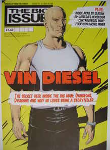 The Big Issue magazine - Vin Diesel cover (16-22 August 2004)
