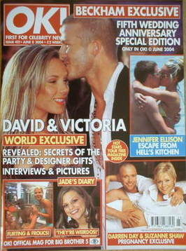 <!--2004-06-08-->OK! magazine - David Beckham and Victoria Beckham cover (8