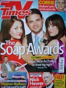 <!--2009-05-09-->TV Times magazine - Lacey Turner, Ryan Thomas, Charley Web