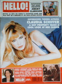<!--1998-01-24-->Hello! magazine - Claudia Schiffer cover (24 January 1998