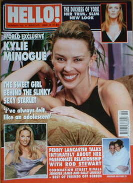 <!--2002-03-05-->Hello! magazine - Kylie Minogue cover (5 March 2002 - Issu