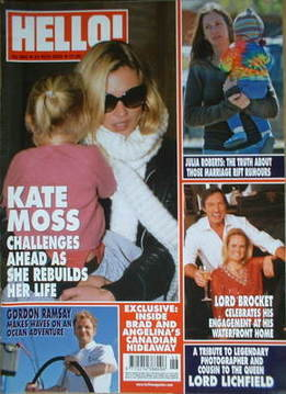 <!--2005-11-24-->Hello! magazine - Kate Moss cover (24 November 2005 - Issu