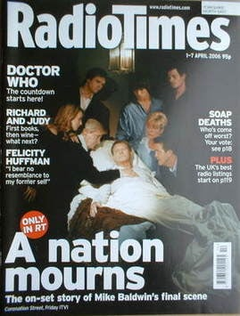<!--2006-04-01-->Radio Times magazine - Mike Baldwin cover (1-7 April 2006)
