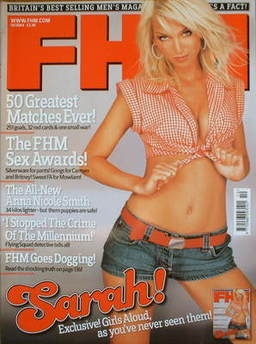 <!--2004-10-->FHM magazine - Sarah Harding cover (October 2004)