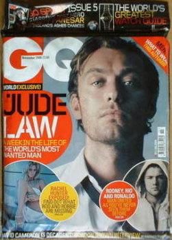 British GQ magazine - November 2006 - Jude Law cover