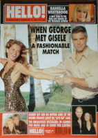 <!--2001-02-06-->Hello! magazine - George Clooney and Gisele Bundchen cover (6 February 2001 - Issue 648)