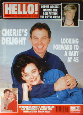<!--1999-11-30-->Hello! magazine - Tony Blair and Cherie Blair cover (30 No