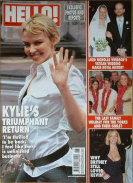 <!--2006-11-21-->Hello! magazine - Kylie Minogue cover (21 November 2006 -
