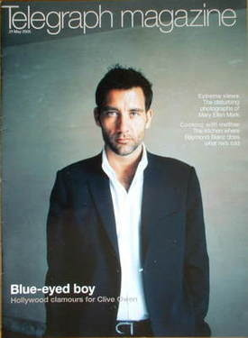 <!--2005-05-21-->Telegraph magazine - Clive Owen cover (21 May 2005)