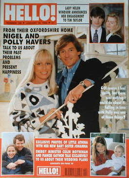 <!--1992-01-18-->Hello! magazine - Nigel Havers and Polly Havers cover (18