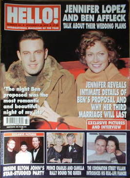 <!--2002-11-26-->Hello! magazine - Jennifer Lopez and Ben Affleck cover (26