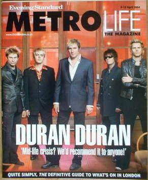 <!--2004-04-09-->Metrolife magazine - Duran Duran cover (9-15 April 2004)