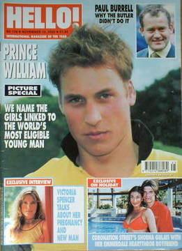 <!--2002-11-12-->Hello! magazine - Prince William cover (12 November 2002 -